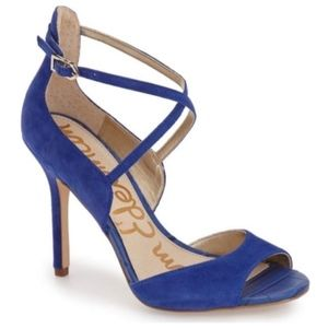 Sam Edelman Audrey Sailor Blue Suede High Heels